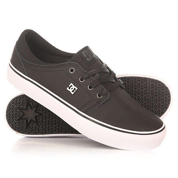 Кеды кроссовки низкие женские DC Trase Le Black/White