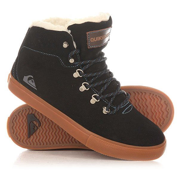 Кеды кроссовки утепленные детские Quiksilver Youth Jax Black/Brown кеды кроссовки низкие детские quiksilver beacon black black grey