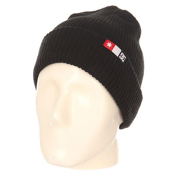 Шапка DC Shoes Core Beanie BlackМужская вязаная шапка из акрила с удлиненной макушкой.Технические характеристики: Мелкая эластичная вязка.Слегка удлиненная макушка.Отворот с логотипом DC.<br><br>Цвет: черный<br>Тип: Шапка<br>Возраст: Взрослый<br>Пол: Мужской