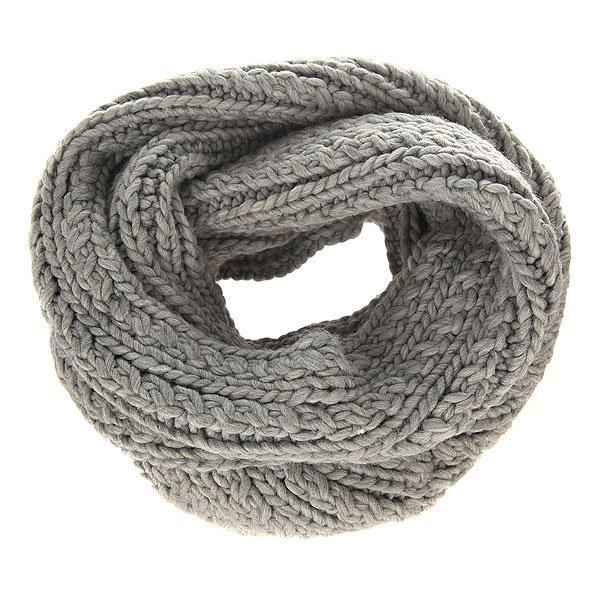 Шарф снуд женский Roxy Love Mixed HeatherУютный вязаный шарф от Roxy укутает своим теплом холодной зимой.Технические характеристики: Объемный дизайн.Крупная вязка.Металлический логотип Roxy.<br><br>Цвет: серый<br>Тип: Шарф снуд<br>Возраст: Взрослый<br>Пол: Женский