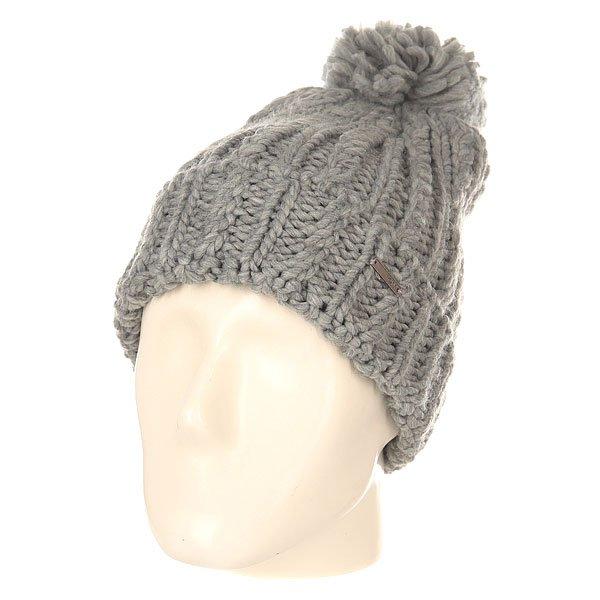 Шапка женская Roxy Love Mixed HeatherУютная вязаная шапка с помпоном от Roxy укутает своим теплом холодной зимой.Технические характеристики: Объемный дизайн.Крупная вязка.Большой помпон на макушке.Отворот с металлическим логотипом Roxy.<br><br>Цвет: серый<br>Тип: Шапка<br>Возраст: Взрослый<br>Пол: Женский