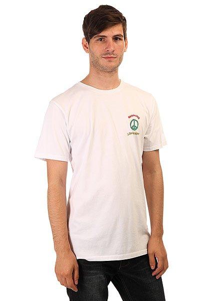 Футболка Quiksilver Livepeacefully White<br><br>Цвет: белый<br>Тип: Футболка<br>Возраст: Взрослый<br>Пол: Мужской