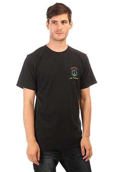 Футболка Quiksilver Livepeacefully Black<br><br>Цвет: черный<br>Тип: Футболка<br>Возраст: Взрослый<br>Пол: Мужской