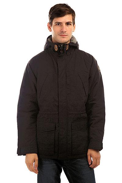 Куртка зимняя Quiksilver Sealakes Jckt TarmacОсень уже не за горами, поэтому стоит подумать о том, чем Вы будете себя утеплять, когда погода будет менее комфортной. И Quiksilver Sealakes - отличный вариант! Теплый и комфортный фланелевый подклад, стеганый дизайн, обилие карманов - эта куртка станет Вашим вторым домом, который будет держать Вас в тепле и уюте даже тогда, когда на улице все совсем грустно. Характеристики:Эффект воскового покрытия.Матовая фланелевая подкладка. Стеганый дизайн. Рукава реглан. 3 кармана на груди. 2 накладных кармана с клапанами. Капюшон со шнурком-утяжкой.Кожаная нашивка с логотипом на рукаве. Водоотталкивающая пропитка.<br><br>Цвет: черный<br>Тип: Куртка зимняя<br>Возраст: Взрослый<br>Пол: Мужской