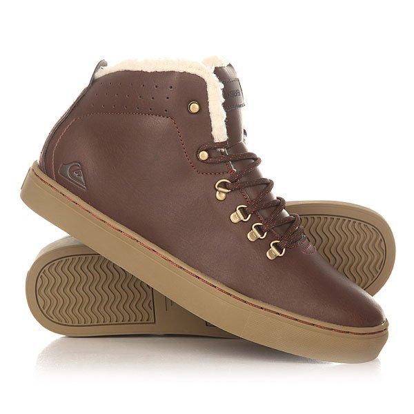 Кеды кроссовки утепленные Quiksilver Jax Deluxe Shoe BrownУдобные и аккуратные ботинки с бесшовным дизайном носа, выполненные из прочной искусственной кожи и дополненные подкладкой из шерпа-флиса, которая добавляет комфорта, тепла и мягкости. Quiksilver Jax Deluxe станут идеальным вариантом для холодных дней, позволяя составить строгий образ, по сравнению с любимыми кедами.Характеристики:Металлические петли шнуровки и клепки.Подкладка манжета из шерпа флиса. Перфорированный верх. Нашивка с фирменным логотипом на язычке. Конструкция ботинка cupsole. Гибкая резиновая подошва. Материал верха: прочная искусственная кожа.<br><br>Цвет: коричневый<br>Тип: Кеды утепленные<br>Возраст: Взрослый<br>Пол: Мужской