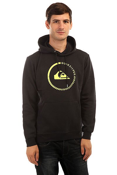 Толстовка кенгуру Quiksilver Big Logo Hood Real Black quiksilver шорты пляжные quiksilver incline logo bdsh incline logo hawaiia