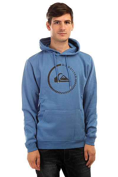 Толстовка кенгуру Quiksilver Big Logo Hood Star Sapphire<br><br>Цвет: синий<br>Тип: Толстовка кенгуру<br>Возраст: Взрослый<br>Пол: Мужской