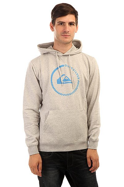 Толстовка кенгуру Quiksilver Big Logo Hood Light Real Grey Heather quiksilver шорты пляжные quiksilver incline logo bdsh incline logo hawaiia