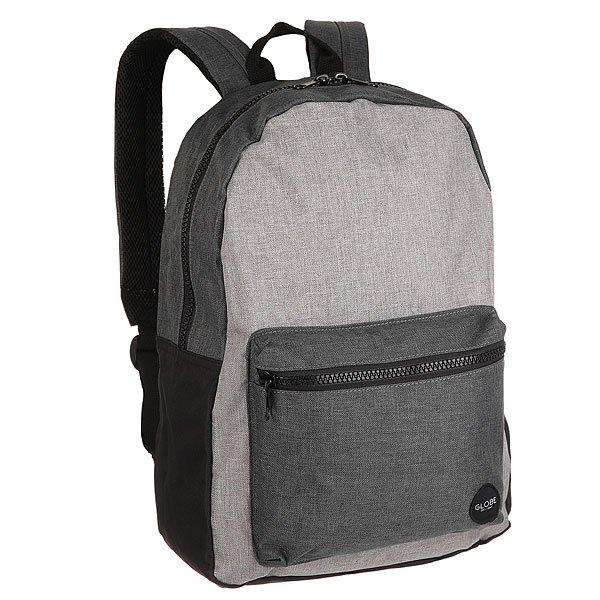 Рюкзак городской Globe Dux Deluxe Backpack Grey/Charcoal/HighКомпактный городской рюкзак в свободном дизайне без лишних деталей. Верный спутник для учебы, прогулок или небольшой поездки.Технические характеристики: Полиэстер 600D с цветочным принтом.Объем 18 литров.Один внешний карман на молнии.Одно основное отделение на молнии.Эргономичная спинка.Мягкие плечевые ремни с подкладкой из сетки.Ручка для переноски.Нашивка с логотипом Globe.<br><br>Цвет: серый,синий<br>Тип: Рюкзак городской<br>Возраст: Взрослый