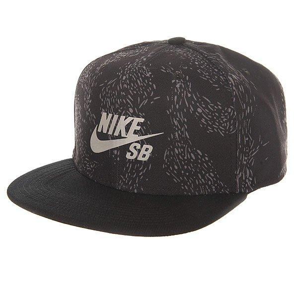 Бейсболка с прямым козырьком Nike SB Swarm Black<br><br>Цвет: черный<br>Тип: Бейсболка с прямым козырьком<br>Возраст: Взрослый<br>Пол: Мужской