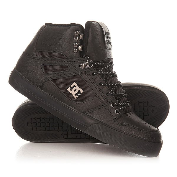Кеды кроссовки утепленные DC Spartan High Wc Black 3 dc shoes зимние кеды dc shoes spartan high wc wnt black olive fw17 9