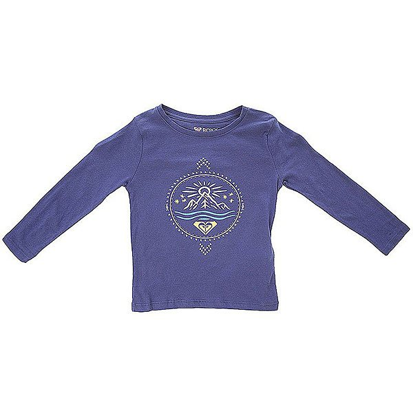 Лонгслив детский Roxy Tw K Tees Blue Print<br><br>Цвет: бежевый,синий<br>Тип: Лонгслив<br>Возраст: Детский
