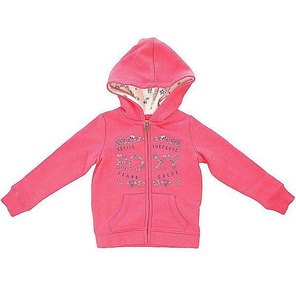 Толстовка классическая детская Roxy Heart K Otlr Paradise Pink<br><br>Цвет: розовый<br>Тип: Толстовка классическая<br>Возраст: Детский