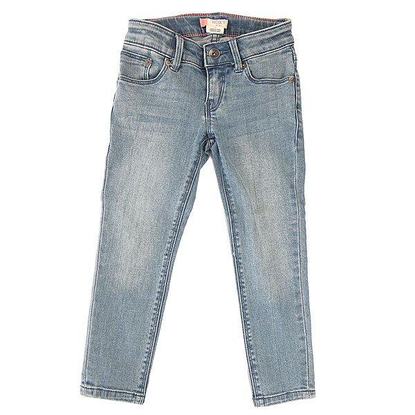 Джинсы прямые детские Roxy Yellow K Pant Vintage Blue<br><br>Цвет: синий<br>Тип: Джинсы прямые<br>Возраст: Детский