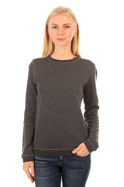 Джемпер женский Roxy Signature True BlackRoxy Signature – новинка из коллекции одежды Roxy.Характеристики:Смягчающая обработка. Махровая ткань.Легкая ткань (235 г/м?).Эластичные резинки на подоле и манжетах.<br><br>Цвет: серый<br>Тип: Джемпер<br>Возраст: Взрослый<br>Пол: Женский