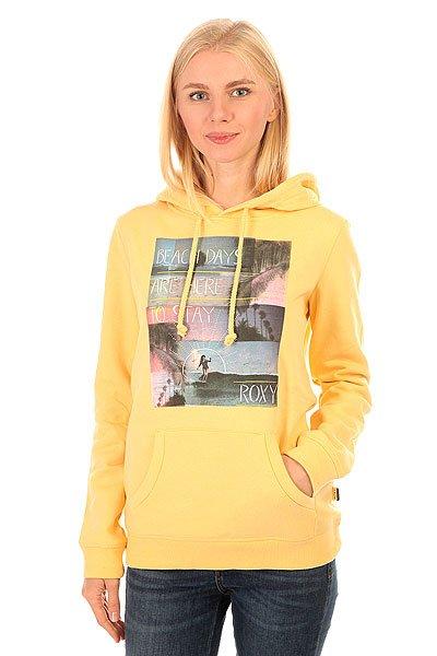 Толстовка кенгуру женская Roxy Hoodie Ru FlaxТолстовка Roxy Hoodie – новинка из коллекции одежды Roxy.Характеристики:Синтетика с начесом. Универсальная всесезонная ткань средней плотности (280 г/м?).Трафаретный принт спереди. Логотип Roxy на боковом шве.<br><br>Цвет: желтый<br>Тип: Толстовка кенгуру<br>Возраст: Взрослый<br>Пол: Женский