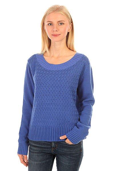 Свитер женский Roxy Dont Dazzling BlueТеплый женский свитер из новой коллекции Roxy.Характеристики:Крупная вязка. Длинный рукав-реглан.Широкая резинка на подоле. Круглый вырез.<br><br>Цвет: синий<br>Тип: Свитер<br>Возраст: Взрослый<br>Пол: Женский
