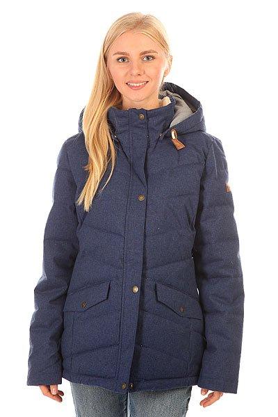 Куртка зимняя женская Roxy Nancy Jk Blue PrintТеплая куртка с наполнителемWarmflight®, обладающим свойствами пуха, но не требующим такого тщательного ухода. Универсальный крой позволит сочетать Roxy Nancy как со сноубутсами, так и с утепленными кедами, а приятная съемная подкладка ворота из шерпа-флиса не только добавит уюта, но и защитит от сильного промозглого ветра.Характеристики:Куртка средней длины. Съемный капюшон на шнурке. УтеплительWarmflight®, обладающий свойствами пуха (600 fill power, 380 г).Съемная подкладка из шерпа-флиса на воротнике. Два кармана для рук.Состав:100% полиэстер.<br><br>Цвет: синий<br>Тип: Куртка зимняя<br>Возраст: Взрослый<br>Пол: Женский