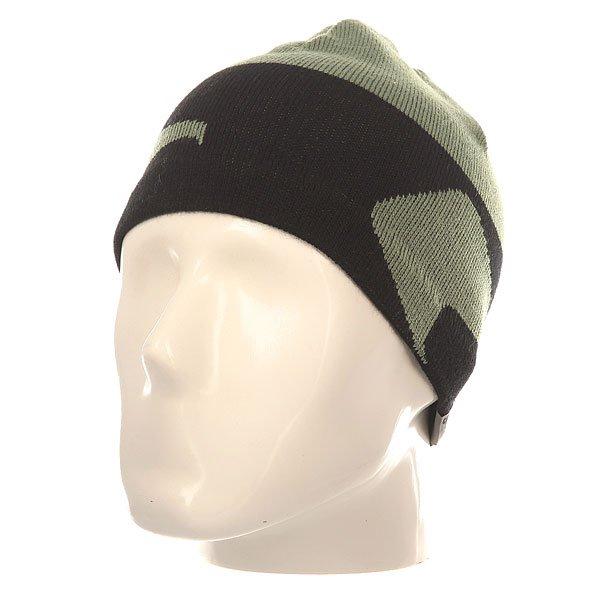 Шапка Globe Gorp G Icon MilМужская вязаная шапка с фирменным принтом Globe.Технические характеристики: Спортивный фасон.Плотная мелкая вязка.Контрастный вязаный принт.Ярлычок Globe.<br><br>Цвет: зеленый,черный<br>Тип: Шапка<br>Возраст: Взрослый<br>Пол: Мужской