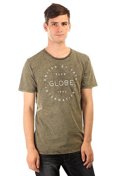 Футболка Globe Perry Tee Military Acid<br><br>Цвет: зеленый<br>Тип: Футболка<br>Возраст: Взрослый<br>Пол: Мужской