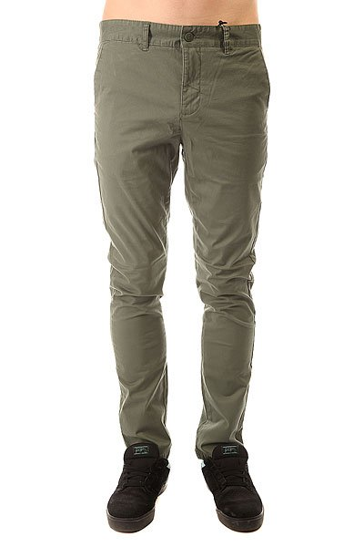 Штаны узкие Globe Goodstock Chino Light Olive