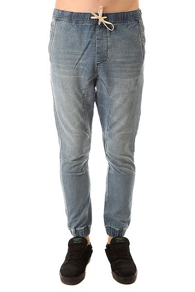 Штаны прямые Globe Select Denim Jogger Damaged Blue