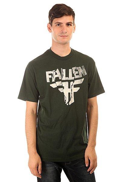 Футболка Fallen Paper Jam Emer Green/White<br><br>Цвет: черный<br>Тип: Футболка<br>Возраст: Взрослый<br>Пол: Мужской