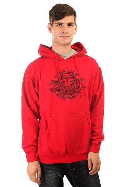Толстовка кенгуру Fallen Brand Seal Pullover Hood Red/Black<br><br>Цвет: красный<br>Тип: Толстовка кенгуру<br>Возраст: Взрослый<br>Пол: Мужской