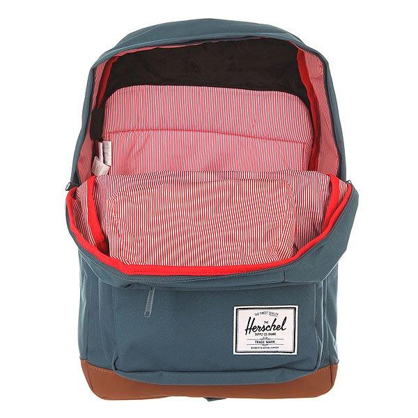 Рюкзак городской Herschel Pop Quiz Lndian Teal/Tan Synthetic Leather