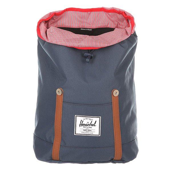 Рюкзак городской Herschel Retreat Navy/Tan Synthetic Leather
