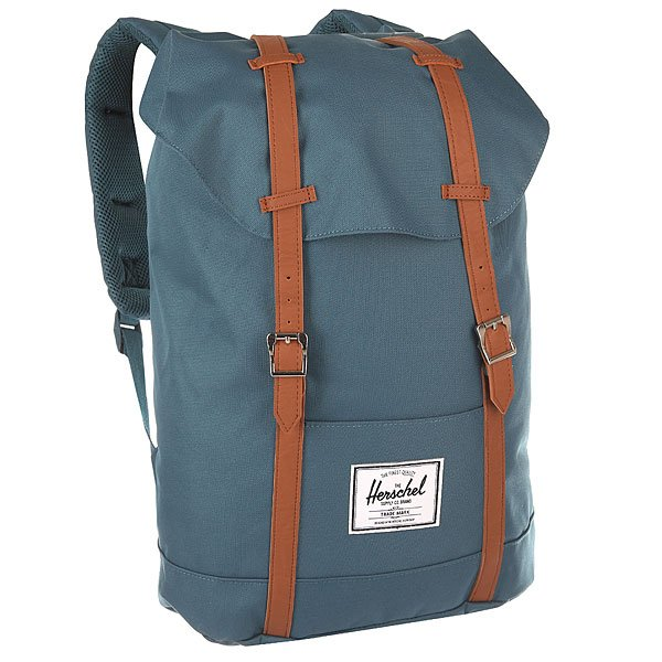 Рюкзак туристический Herschel Retreat Indian Teal/Tan Synthetic Leather