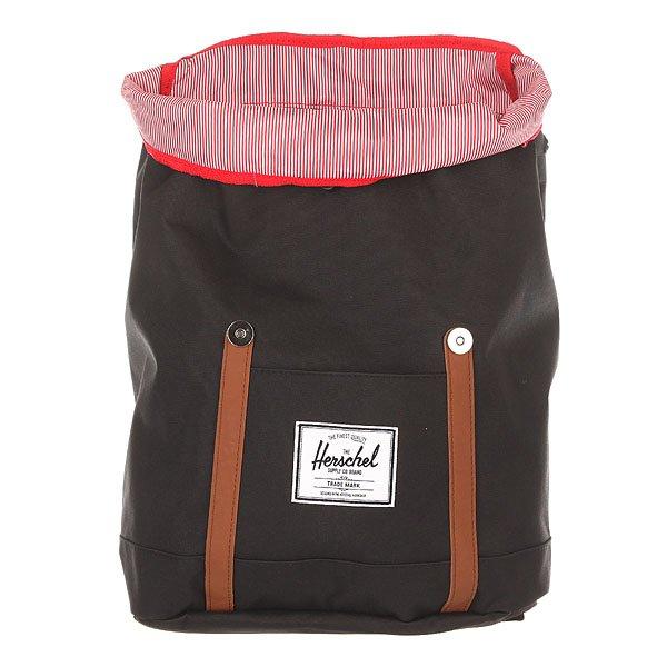 Рюкзак туристический Herschel Retreat Black/Tan Synthetic Leather