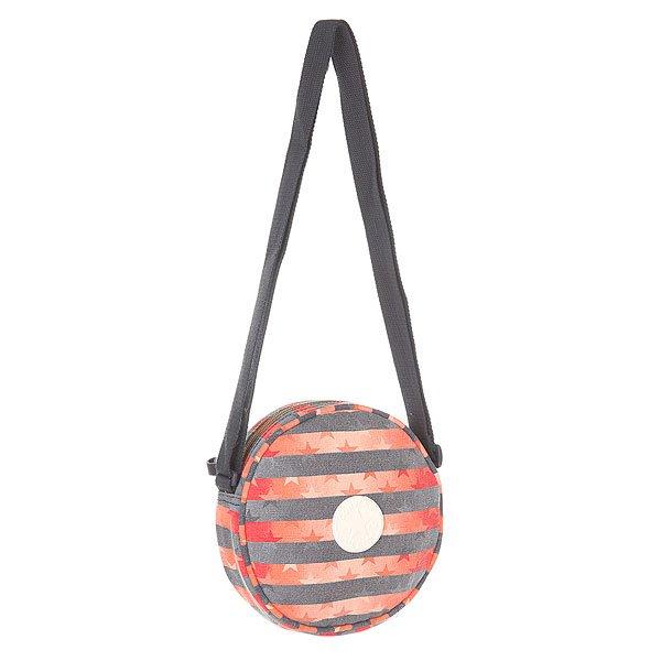 Сумка через плечо Converse 410899 Grey/Red/OrangeКомпактная городская сумка из прочного хлопка в необычном круглом дизайне от Converse.Технические характеристики: Прочный хлопок с принтом.Круглый дизайн.Основное отделение на молнии.Внутренний карман.Длинный плечевой ремень с регулировкой.Фирменный логотип Converse.<br><br>Цвет: серый,оранжевый,красный<br>Тип: Сумка через плечо<br>Возраст: Взрослый<br>Пол: Мужской