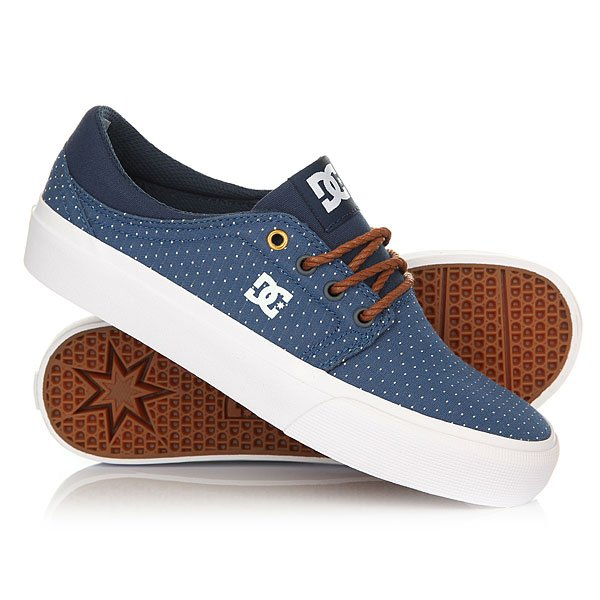 Кеды кроссовки низкие женские DC Trase Tx Se Blue/Brown/White