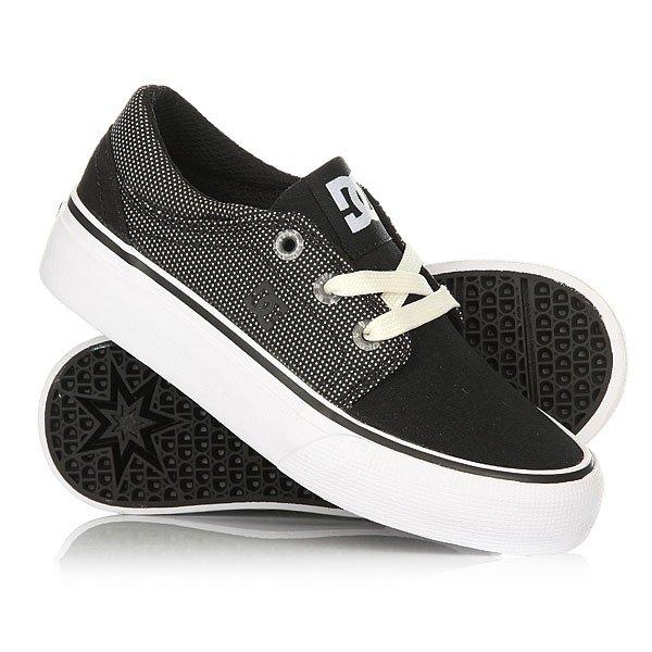 Кеды кроссовки низкие детские DC Trase Tx Td Se Black/Glow