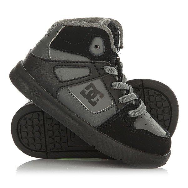 Кеды кроссовки высокие детские DC Rebound Ul Grey/Black