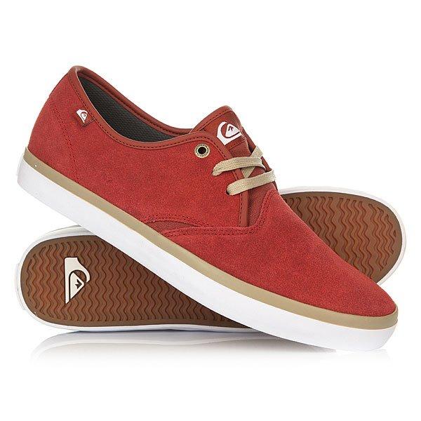 Кеды кроссовки низкие Quiksilver Shorebreak Sued Shoe Xrrw Red/Red/White
