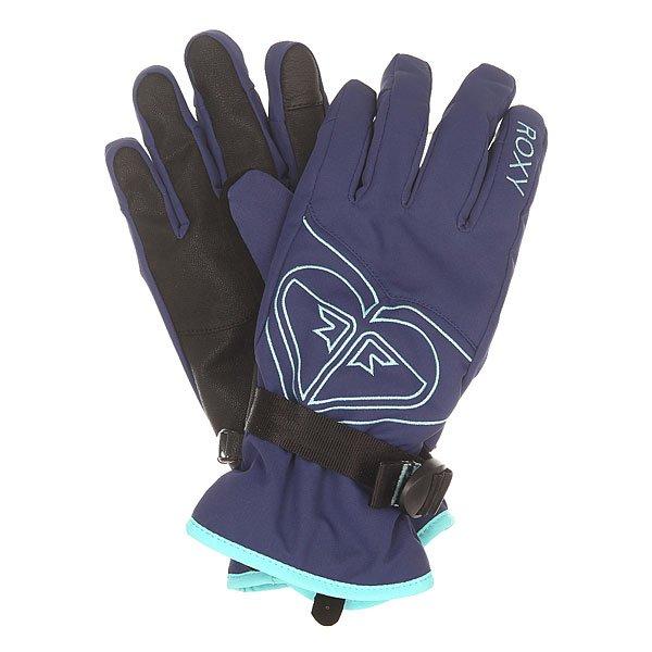 Перчатки сноубордические женские Roxy Popi Gloves Blue Print