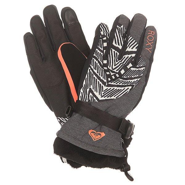 Перчатки сноубордические женские Roxy Merry Go Gloves Mauritius Daze Egret