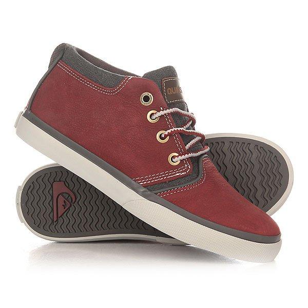 Кеды кроссовки высокие детские Quiksilver Griffin Red/Grey кеды кроссовки низкие детские quiksilver beacon black black grey