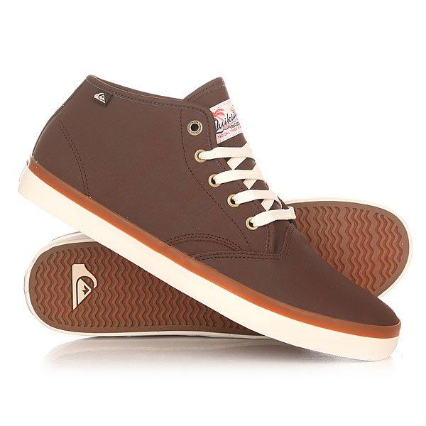Кеды кроссовки высокие Quiksilver Shorebrekdelmid Brown кроссовки quiksilver quiksilver qu192ampfl58