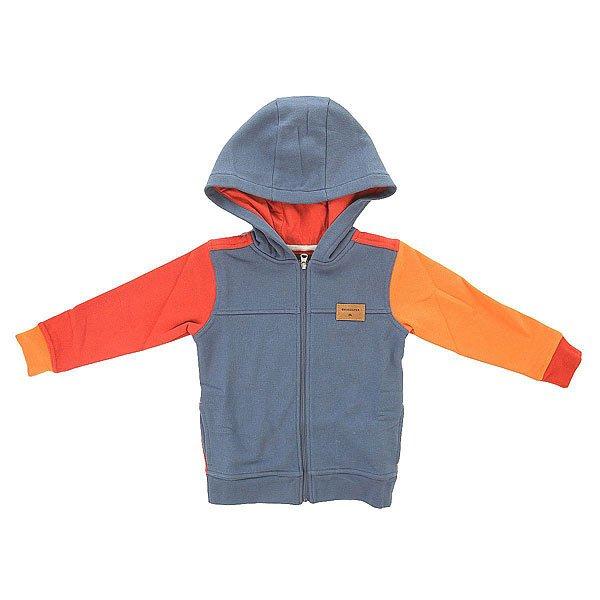 Толстовка классическая детская Quiksilver Iconicsciencebo K Otlr Dark Denim<br><br>Цвет: синий,оранжевый<br>Тип: Толстовка классическая<br>Возраст: Детский