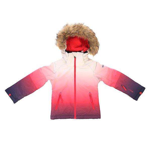 Куртка детская Roxy Jet Ski G Gr Jk Gradient Paradise PiКуртка с ярким дизайном, привлекающим внимание, а также с впечатляющим набором технологий, призванных обеспечить Вашему ребенку максимальный комфорт при катании.Характеристики:Куртка для девочек 8-16 лет. Влагостойкая ткань Dry Flight 10K (10,000мм/10,000г). Утеплитель: 200 г тело / 140 г рукава / 60 г капюшон.Подкладкаиз тафты и трикотажа с начёсом. Зауженный крой. Проклеенные критические швы. Съемный капюшон. Съемный мех на капюшоне. Медиа-карман.Снегозащитная юбка. Регулируемые внешние манжеты на липучке. Внутренний карман для маски. Внутренние манжеты из лайкры в рукавах. Сетчатые карманы для вентиляции. Карман для ски-пасса на молнии на рукаве.<br><br>Цвет: мультиколор<br>Тип: Куртка утепленная<br>Возраст: Детский