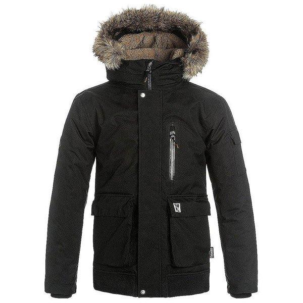 Куртка зимняя детская Quiksilver Arrisjacketyth BlackВеликолепнаякуртка от Quiksilver из высокотехнологичных материалов, отвечающих всем современным требованиям качества и комфорта. Верх куртки изготовлен из плотного оксфорда с водостойкой пропиткойDry Flight 10K, что позволит не опасаться снегопада или влажной погоды.Внутри слой материала3M™ Thinsulate™ type KK™, онраспределен как в теле и рукавах, так и в капюшоне куртки, отлично сохраняет тепло, позволяя проводить еще больше времени на морозном воздухе. Куртка оснащена штормостойкая конструкцией закрытияStormflap™, что препятствует попаданию снега или влаги сквозь молнию.Для согрева рук предусмотрены внутренние вязанные манжеты и карманы для рук. От сильного ветра спасет утепленный капюшон со съемной меховой отделкой. Благодаря стильному универсальному дизайну Quiksilver Arris будет отлично выглядеть как в городском пейзаже, так и на горном склоне.Характеристики:Капюшон со съемной меховой отделкой.Пропитка Dry Flight 10K (Водостойкость 10 000 мм / Дышащие свойства 10 000 г/м2).Утеплитель 3M™ Thinsulate™ type KK™ (тело -240 г, рукава -180 г, капюшон -140 г).Застегивается по системеStormflap™на молнию по всей длине, затем панельюна кнопках.Подкладка из шерпы. Швы проклеенные в критических местах. Карманы для рук на кнопках. Нагрудный карман на молнии. Регулируемые манжетына липучкеVelcro.Внутренние утепленные манжеты для рук.<br><br>Цвет: черный<br>Тип: Куртка зимняя<br>Возраст: Детский