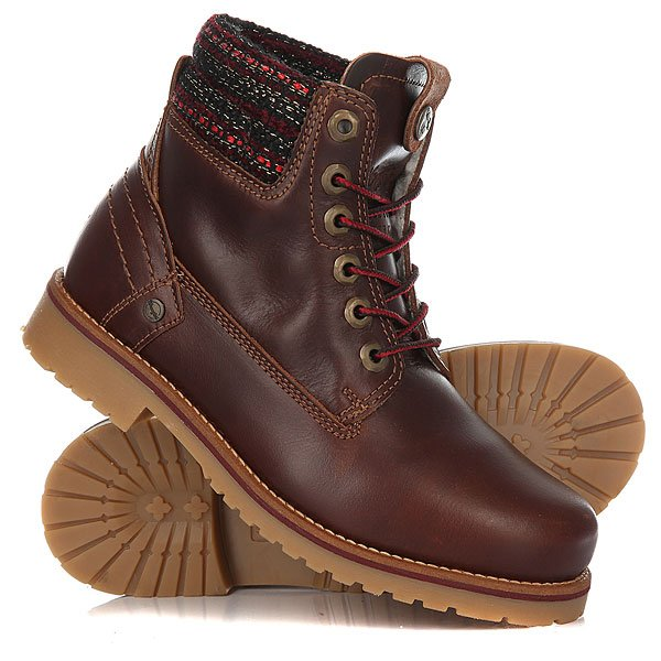 Ботинки зимние женские Wrangler Creek Rio MahoganyУдобные ботинки для вашего комфорта в холодное время года. Премиальное качество и комфорт покорят вас раз и навсегда.Характеристики:Верх из кожи.Утепленная внутренняя отделка из искусственного меха. Цельнокроеный носок.Тканный смягченный манжет.Классическая круглая шнуровка с тонированными люверсами.Широкий массивный язычок. Цепкая прошитая подошва с невысоким каблуком и абразивным протектором.<br><br>Цвет: коричневый<br>Тип: Ботинки зимние<br>Возраст: Взрослый<br>Пол: Женский