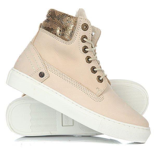 Кеды кроссовки утепленные женские Wrangler Historic Fur CreamСтильные ботинки Wrangler Historic выполнены из качественной кожи с аккуратной прострочкой. Высокая шнуровка позволит максимально удобно зафиксировать ботинки на ноге. Удобный, мягкий манжет позволит насладиться чувством комфорта при ходьбе. Благодаря небольшому рифлению на подошве выполненной из силиконовой резины Ваша походка станет более уверенной. Оригинальный дизайн ботинок заставит обратить на себя внимание и Вы всегда будете на высоте.Характеристики:Верх из кожи.Мягкая внутренняя съемная стелька из пенорезины EVA с дополнительным подпяточником. Мысок усилен дополнительной вставкой. Внутренняя отделка из искусственного меха. Круглая шнуровка с металлическими тонированными люверсами.Цельнокроеный носок. Гибкая литая резиновая подошва с дополнительной прошивкой. Логотип на боковой части ботинка.<br><br>Цвет: бежевый<br>Тип: Кеды утепленные<br>Возраст: Взрослый<br>Пол: Женский