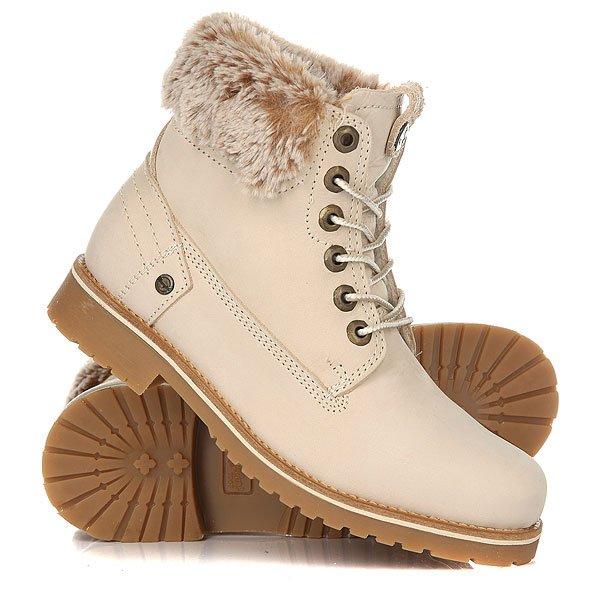 Ботинки зимние женские Wrangler Creek Alaska Nubuck IceУдобные ботинки для вашего комфорта в холодное время года. Премиальное качество и комфорт покорят вас раз и навсегда.Характеристики:Верх из нубука.Утепленная внутренняя отделка из искусственного меха. Цельнокроеный носок.Широкий смягченный манжет с отделкой из искусственного меха.Классическая круглая шнуровка с тонированными люверсами.Широкий массивный язычок. Цепкая прошитая подошва с невысоким каблуком и абразивным протектором.<br><br>Цвет: бежевый<br>Тип: Ботинки зимние<br>Возраст: Взрослый<br>Пол: Женский