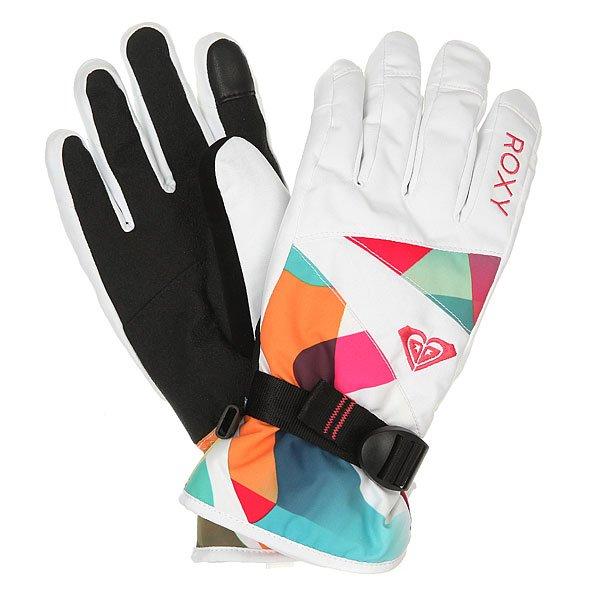 Перчатки сноубордические женские Roxy Jetty Gloves Milo Typo Bright WhiСноубордические перчатки ROXY Jetty из новой коллекции.Характеристики:Технологичная саржа из полиэстера.Утеплитель 170 г. Мягкая трикотажная подкладка с начесом.Преформованная модель. Эластичные манжеты. Регулируемое запястье.Эластичный лиш.<br><br>Цвет: белый,мультиколор<br>Тип: Перчатки сноубордические<br>Возраст: Взрослый<br>Пол: Женский