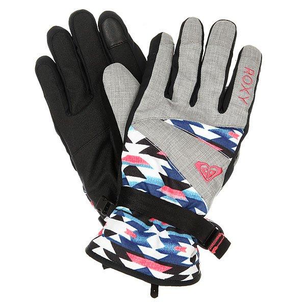 Перчатки сноубордические женские Roxy Jetty Gloves Geofluo An Blue Print
