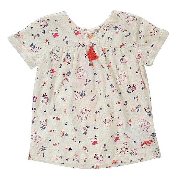Платье детское Roxy Hey Dreamer Ditsy PristiЛегкое детское хлопковое платьице-футболка свободного кроя. Что может быть лучше для вашей малышки! Характеристики:Свободный крой. Швы обработаны декоративным кантом. Изготовлено из хлопка.<br><br>Цвет: белый<br>Тип: Платье<br>Возраст: Детский